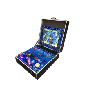 coin operated gambling fish game walking fish game machines 2 players small arcade game for sale