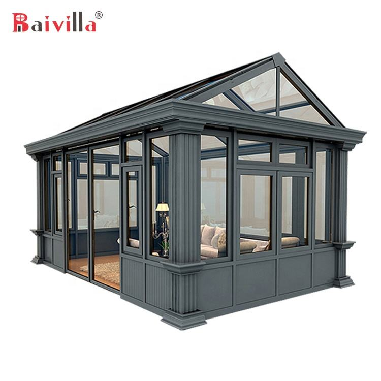Latest Design High Quality China Outdoor Glass Room Sunroom Glass Houses