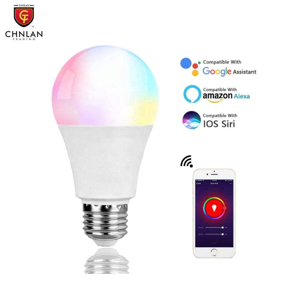 Tuya Google Home Alexa 10W E26 E27 Home Dimmable WiFi LED RGB Light Smart Wifi Bulb