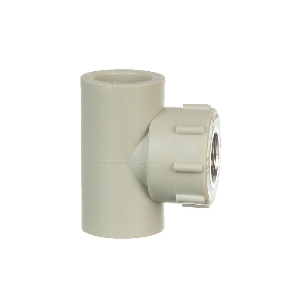 Water system pipe and fittings ppr brass female equal tee