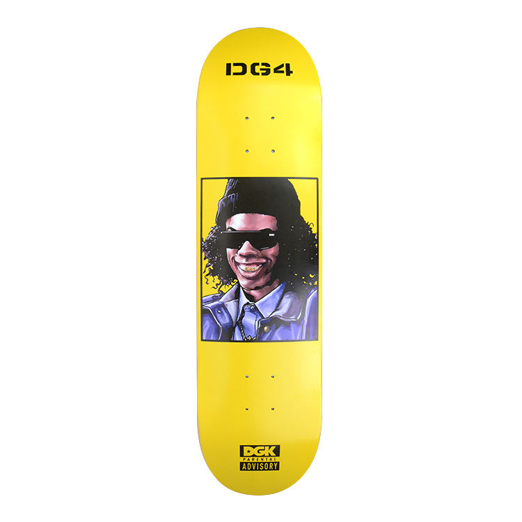 DGK brand hard rock Canadian maple skateboard decks in 8.0inch , can be customized by leading factory in China