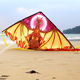 Kite Bright Colored Customized New Model Triangle Dragon Kite Kids Toy Fun Outdoor Easy Flying Safely
