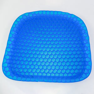 Car Square Double Gel  Layers Silicone Seat Cushion Cooling Orthopedic Memory Gel egg Chair Sitter Cushion/