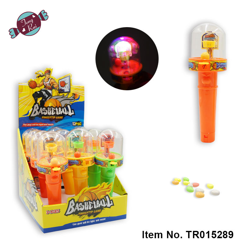 TengRui High quality sweet basketball with light and music toy candy