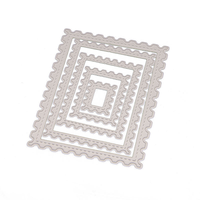 Rectangle Stamp Frame Craft Dies Cuts Metal Cutting Dies for DIY Card Making Scrapbooking 5 pieces/set N54