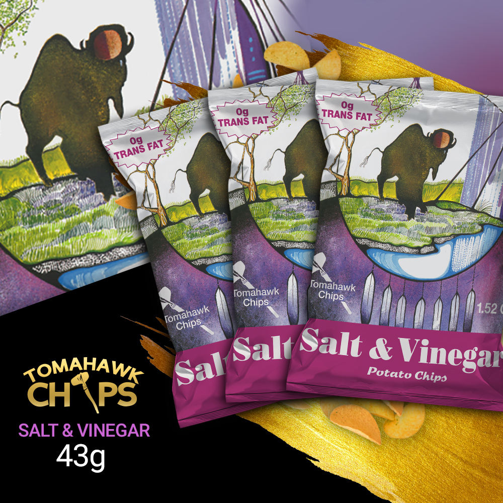 Tomahawk Potato Chips Salt & Vinegar 43g