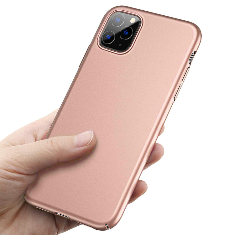 for iPhone X XR XS Max Plain Slim Pink Plastic Hard Shell Phone Case for iPhone 11 Hard Rubber Case