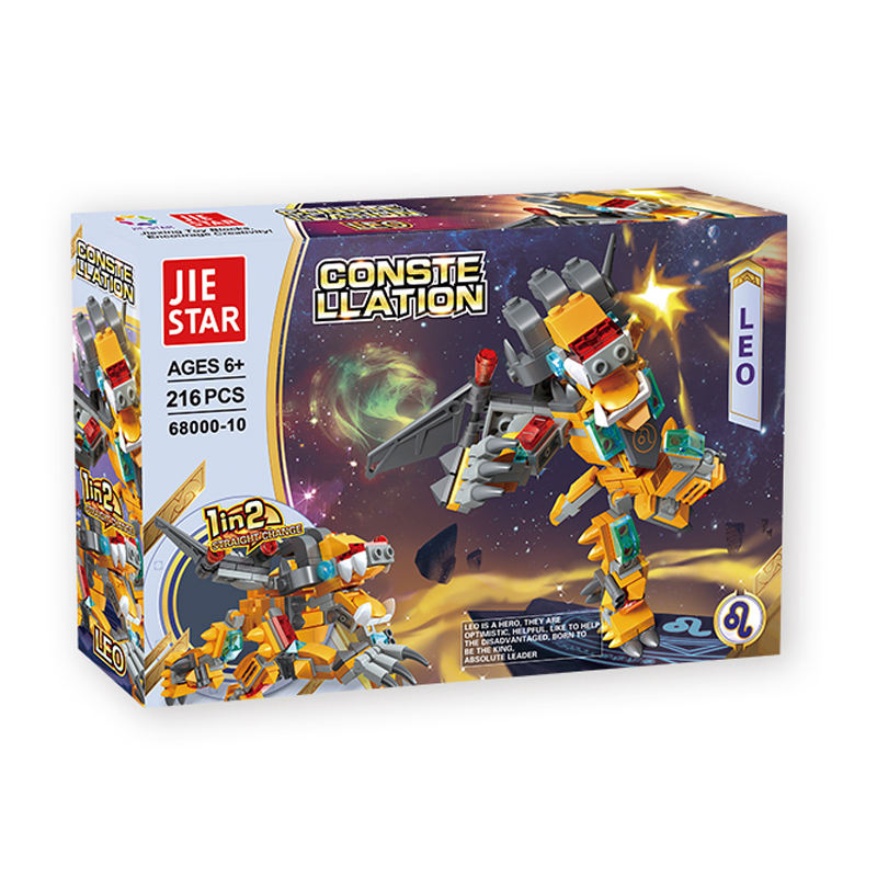 Leo Robot Educational toys kids 6-in-1 DIY plastic robot creative building blocks set science toys