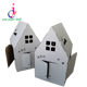 Factory custom beautiful children DIY handmade doodle toy house toy paper house