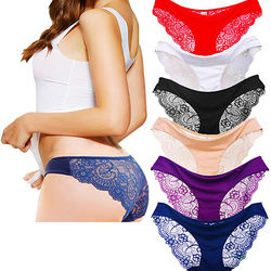 Ice Silk Bragas Transparent Lace Panty Wholesale Seamless Panties Women Underwear