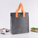 Customized color handle Document wool organizer tote felt bag