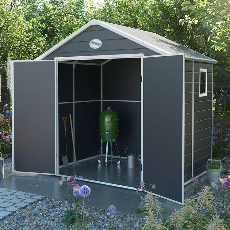 2020 model garden outdoor tool shed plastic house storage