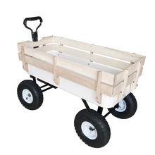 "10"" Pneumatic Tyre Beach Radio Flyer Wood Railing Kids Carts"