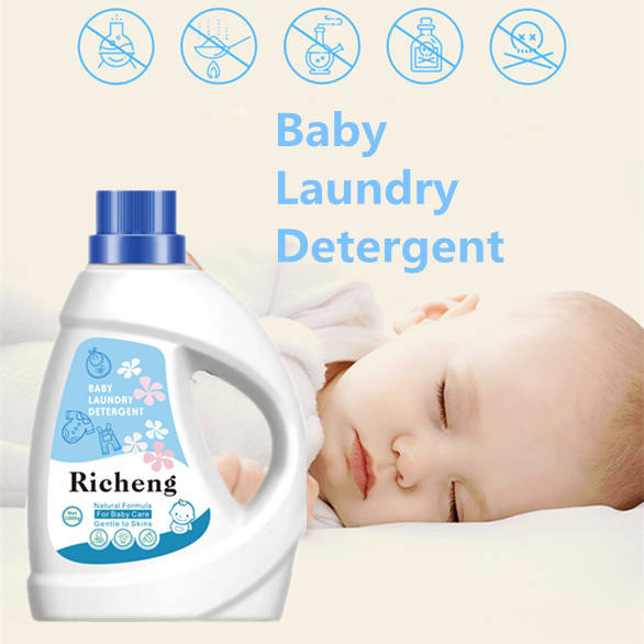 1000g Natural Soft Organic Washing Clothes Liquid Baby Laundry Detergent OEM