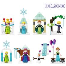Girl Friends Building Block Toy Set Anna Elsa Snow Queen Kristoff Olaf mini Action Figure Ice Castle gift compatible with legoe