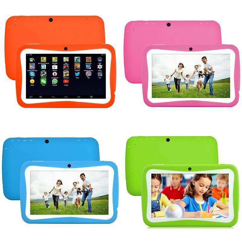 New design 7 inch cheap Tablet for Kids Children Gift Game Apps Android 4.4 512GB RAM 8GB ROM WiFi Quad Core Tablet PC
