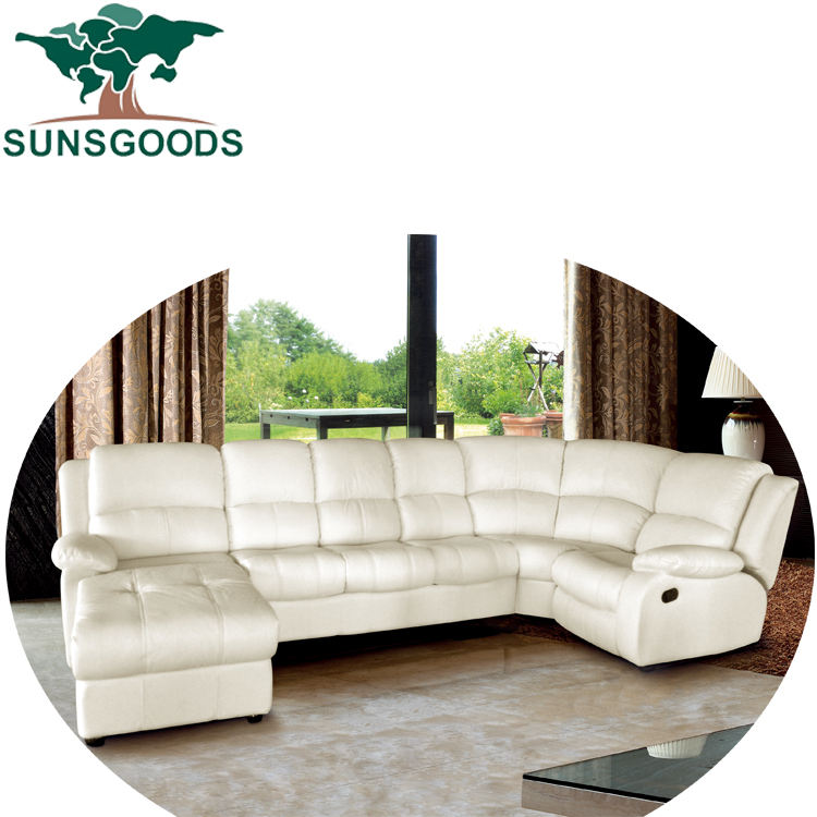 Big white reclining sectionals sofas,modern sectionals sofas recliner,u shape sectionals sofas recliner
