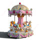 Amusement Park Equipment MINI Small Horse Carousel Kids Merry Go Round 6Seats