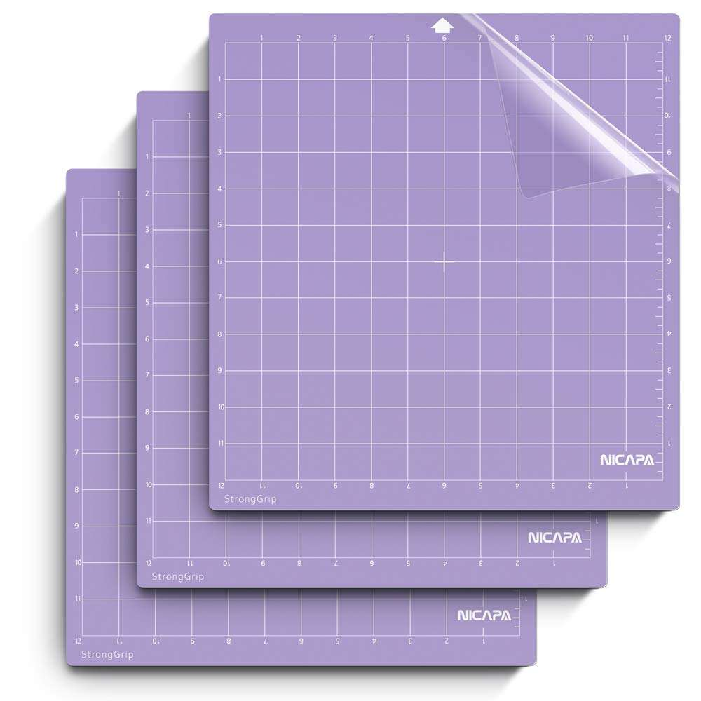 nicapa plotter cutting mat for Silhouette machine, 12 x 12 inch, strong-grip,3 pcs/pack