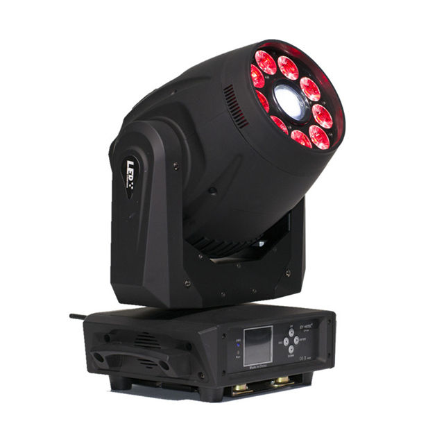 Podium Verlichting 120W LED Spot + 9*12W RGBWA + UV 6in1 Wash Moving Head