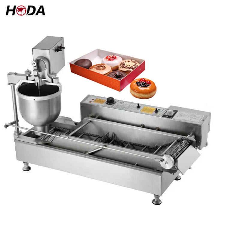 mini stainless steel donut molding electrical hopper depositor plunger glazer machine donas cake production line vending machine