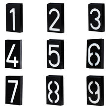 House Number Doorplate Digital Solar Light LED Door Number Address Digits Wall Mount Porch Lights With Battery