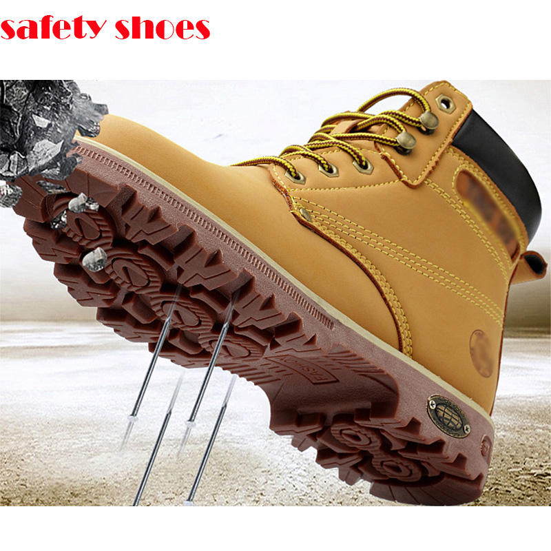 wholesale men S1P S2P S3 oil resistant lab jogger anti slip leather steel toe cap insole industrial work boots safety shoes