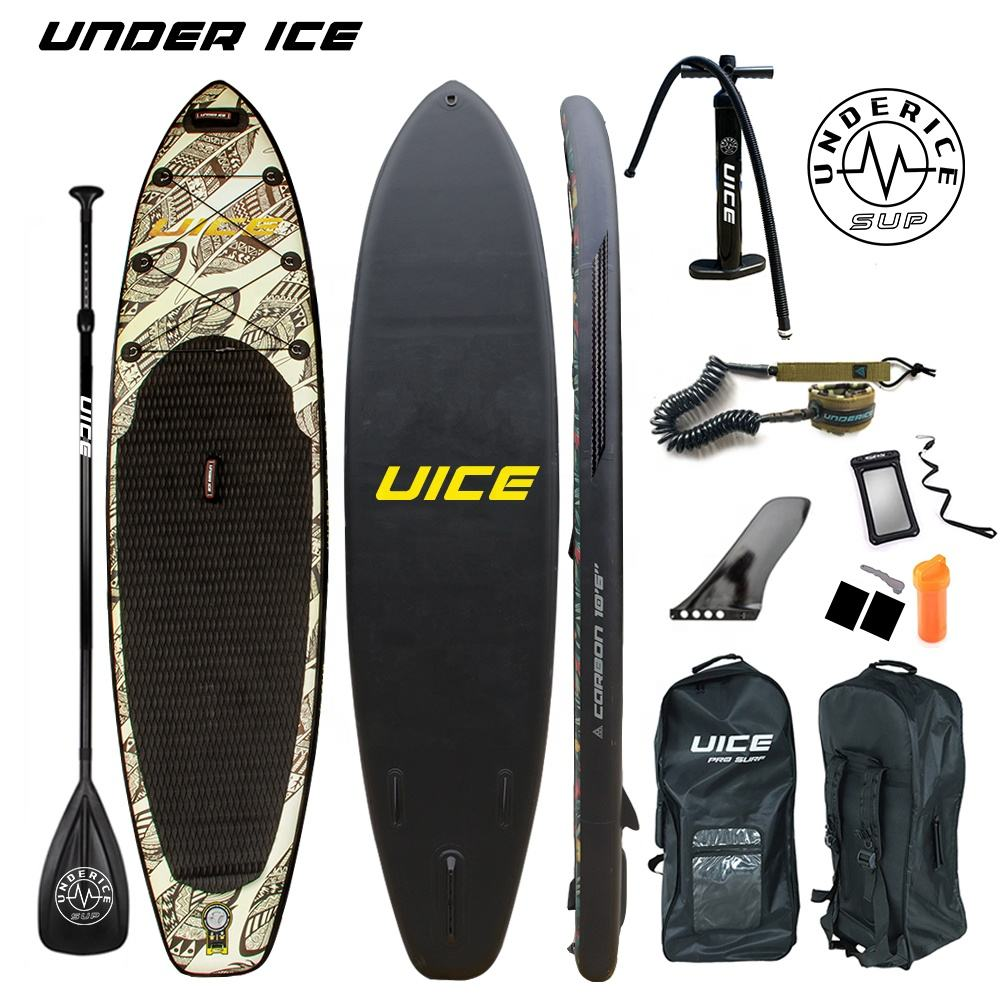 10'6'' 11' Indian leaf design Inflatable Paddle Board ISUP paddling board for floating race and fishing
