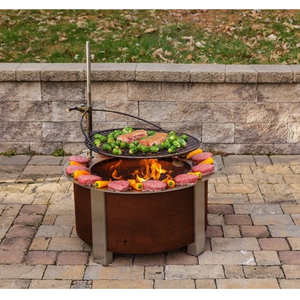 Wood / charcoal fired Big size 80 cm*40 cm round smokeless fire pits