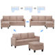 Free Shipping Nordic Modern Home Furniture Fabric Sectional Corner Couch Chaise Longue Combination Bed Living Room Sofa