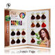 Customized Semi permanent Hair Color Swatch Book Chart Manufacturer in China