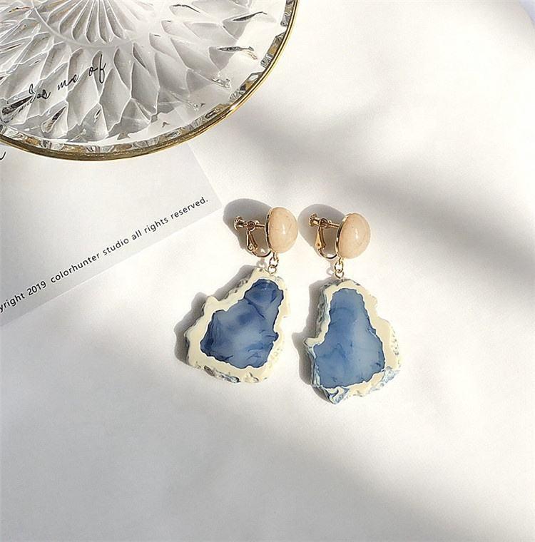 Druzy Cabochon Druzy Jewelry Sky Blue Round Druzy GAP217 WHOLESALE  20Pcs Sky Blue Titanium Druzy Studs 10mm