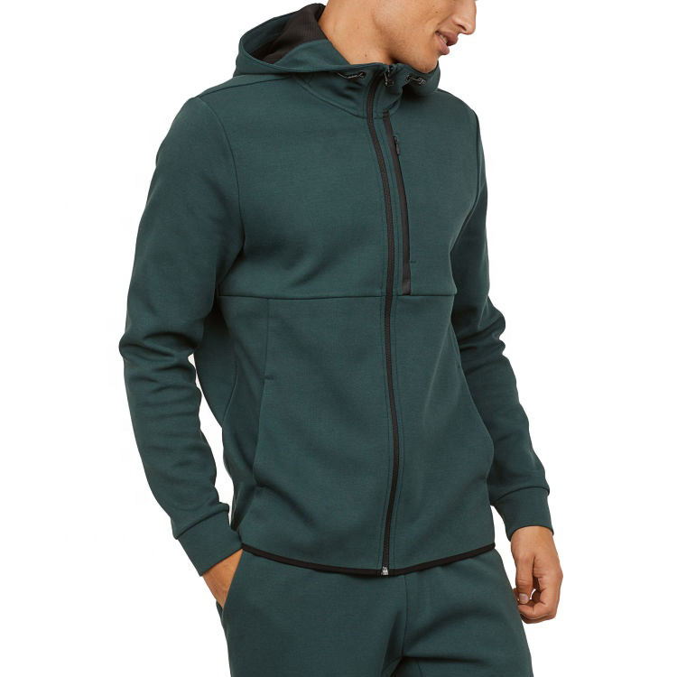 Factory direct full zip up hoodie blank hoodies custom cotton sweatshirt
