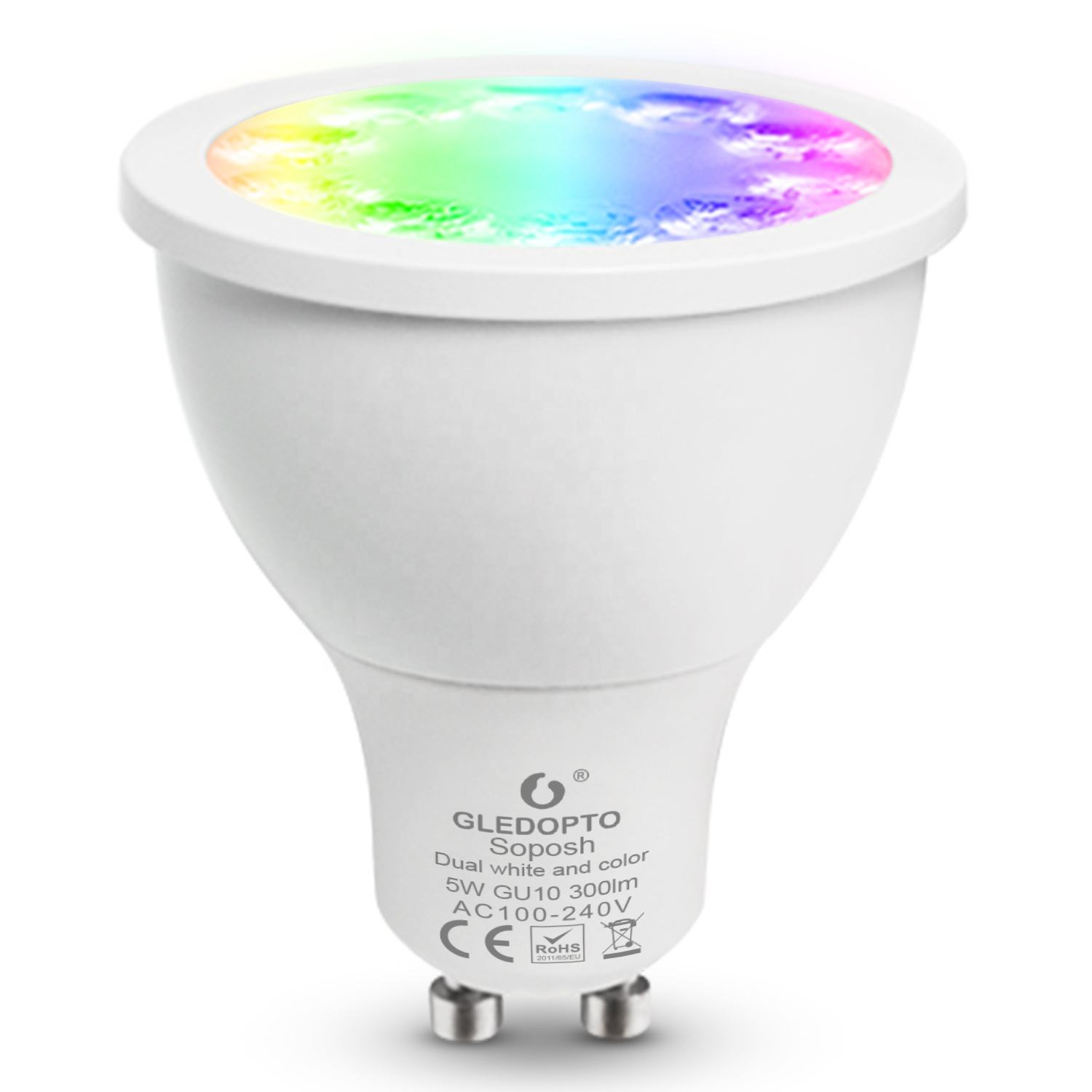 GU5.3 MR16 E27 5 W DC12V AC100-240V 350LM 듀얼 화이트 2700-6500 K ZigBee (<span class=keywords><strong>P</strong></span>) hilips H UE GU10 LED 스포트라이트