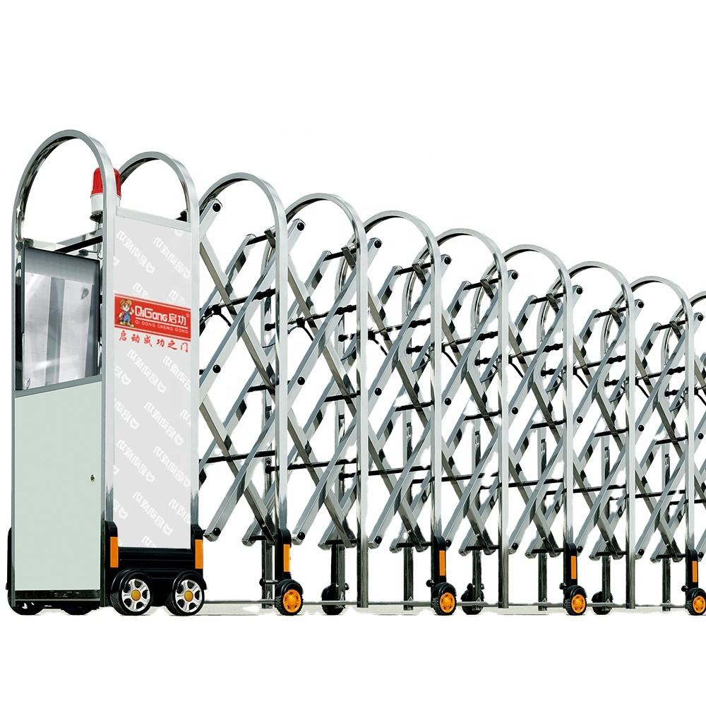 Stainless steel auto portable retractable manual collapsible gate