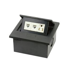 Damp Pop Up Type Data Socket Outlet RJ45 3 Pin 2 Pin AC Power Switch Socket For Conference Table