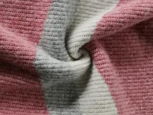 Striped V Neck Solid Pink Jacquard Cozy Comfortable Merino Wool Cashmere Winter Knit Women Sweater Pullover