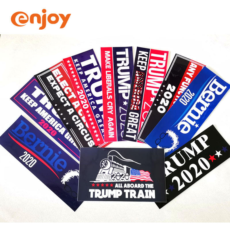 Outdoor Use for Car Custom Vinyl Quality Die Cut Sticker Printing Car Bumper Trump Sticker 2020