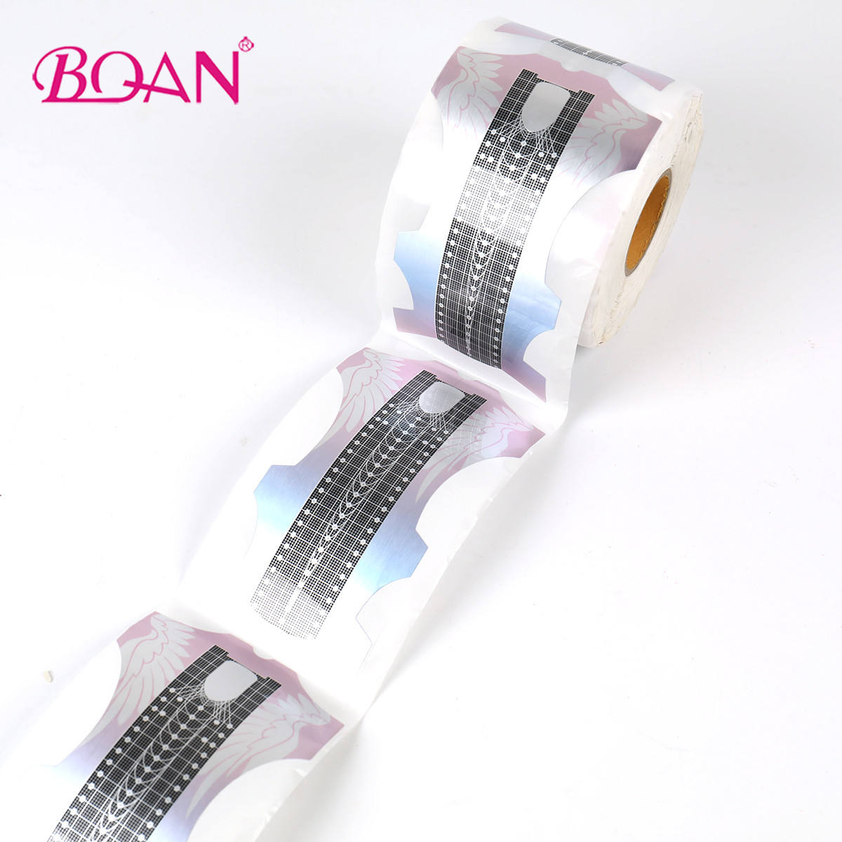 2020 500pcs Very Long Acrylic Reusable Gel Nail Form Paper Private Label Dual Nail Art Form Butterfly Nail Forms