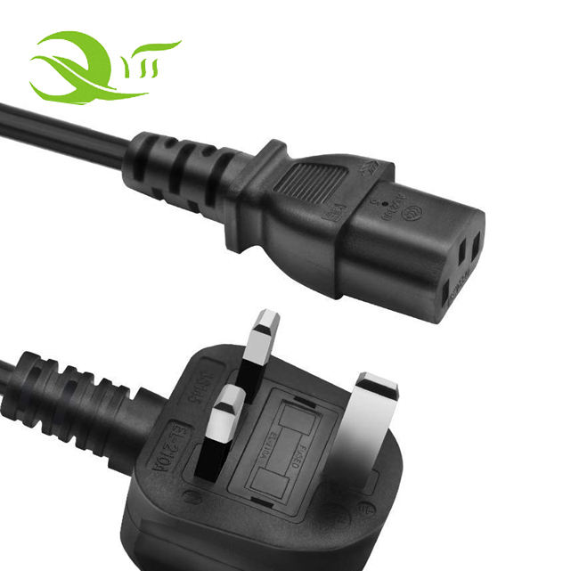 Supply Extension Hair Straightener Plug Iec C13 British Ac Cable 220v 3 Pin Uk Power Cord
