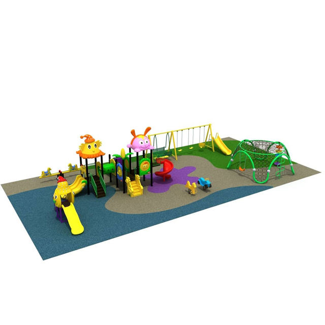 Children Outdoor Playground Amusement Park Equipment Plastic Slide Play Equipment