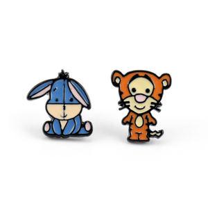 2019 New arrived kids tiger batman enamel earrings stud korean cute cartoon earrings wholesale lot earrings girls birthday gift