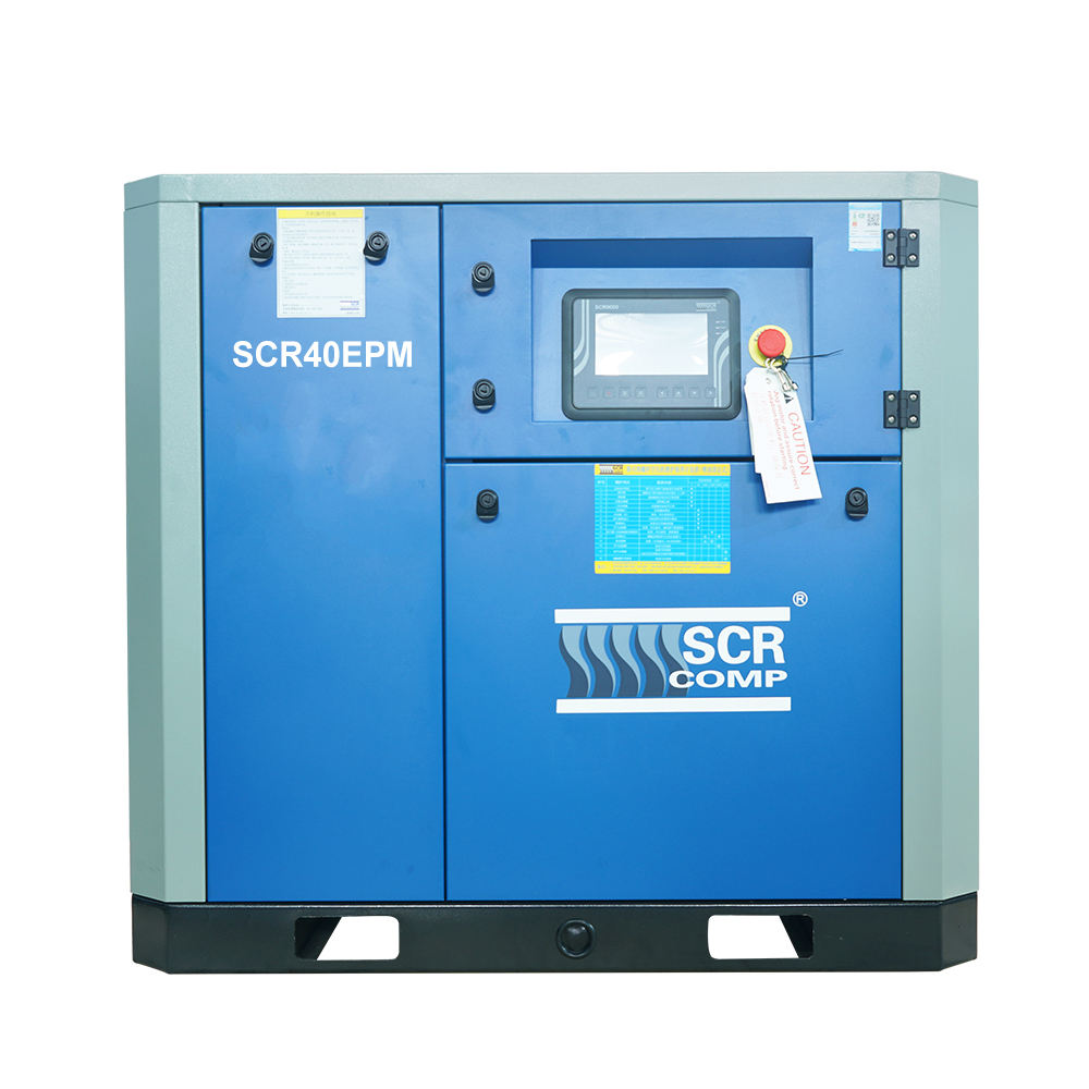 SCR40EPM 30kw 40hp Energy Saving Series Oil Injected Permanent Magnetic Screw Compressor