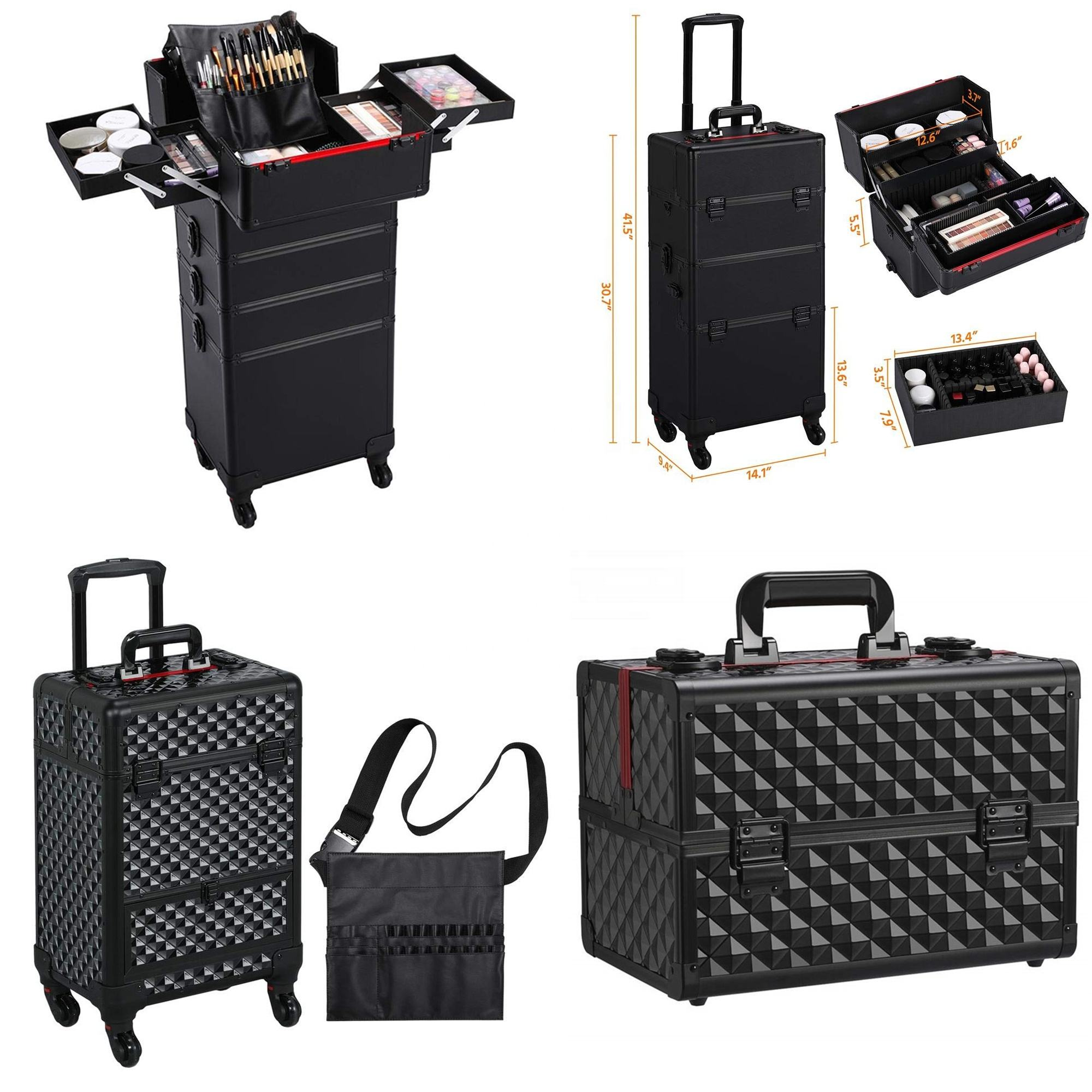 professional makeup trolley case suitcase trolley suitcase professional trolley make up cosmetic artist hairdresser case