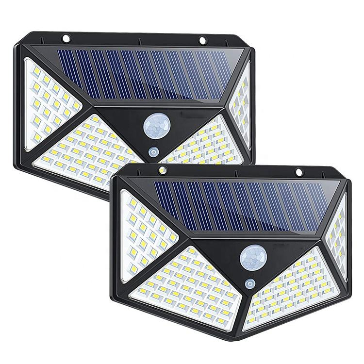 2019 New Waterproof Pathway PIR 100 led Solar Motion Sensor Light For Home, Outdoor Emergency Security Garden Solar Wall Light