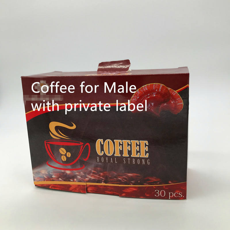 Custom Ginseng coffee for male with private label minimum order 2000box