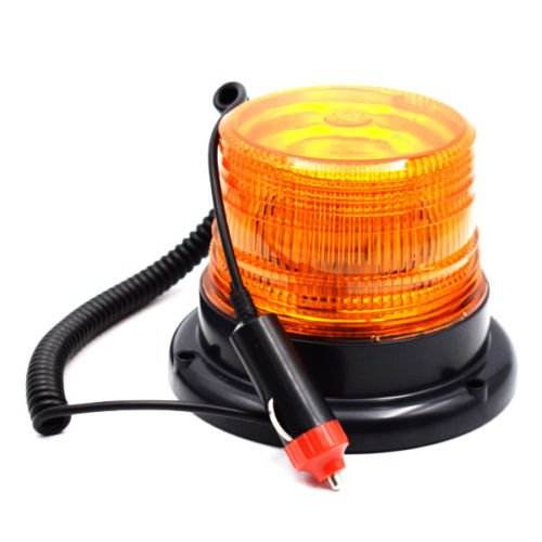 Faro de emergencia LED magnético, luz de advertencia ámbar, Flash de seguridad, 12V, 40W