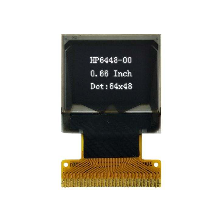 64 x 48 dot transparent flexible 0.66 inch OLED