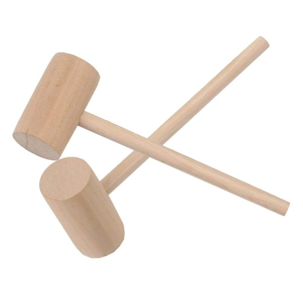 Factory Wholesale Durable Natural Small Solid Wooden Crab Mallet