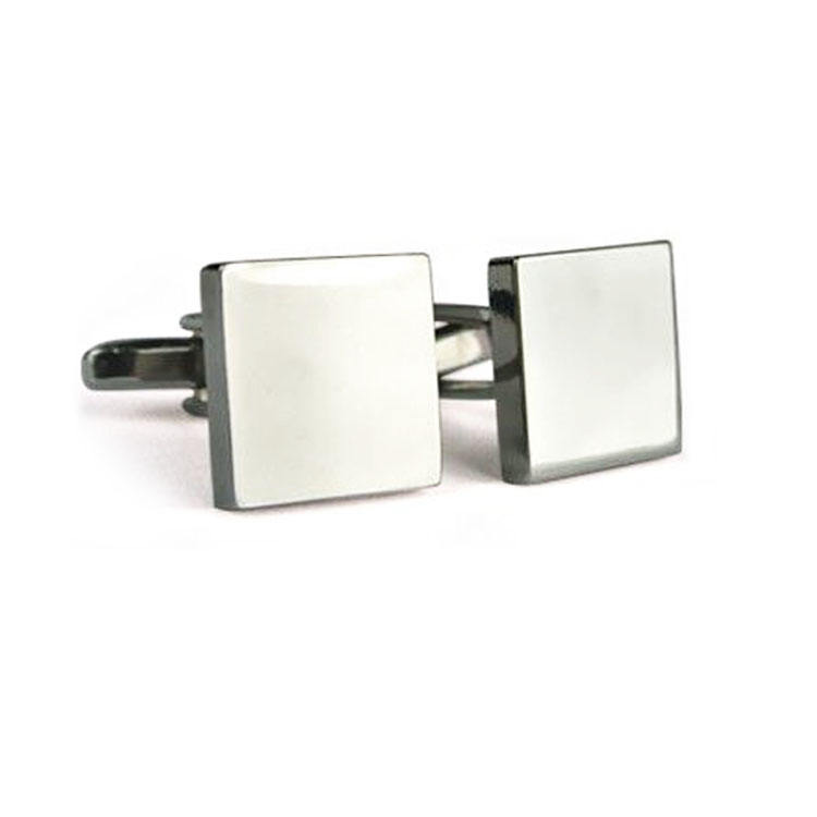 High Quality CuffLink Custom Newest MenのMetal Blank Square CuffリンクCufflinks